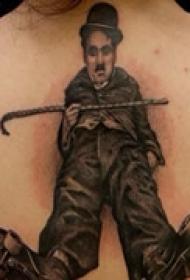 经典艺人背部纹身