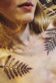 小清新纹身锁骨 多款小清新文艺纹身锁骨纹身图案
