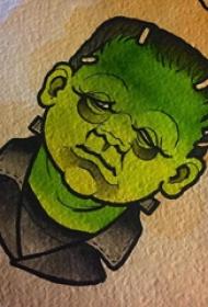 人物肖像纹身 多款彩绘纹身素描人物纹身手稿
