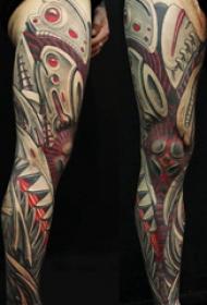 盔甲纹身图案 多款彩绘纹身素描盔甲纹身图案