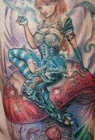 纹身美人鱼 男生手臂上美人鱼纹身图片
