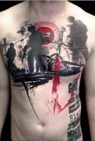 纹身就要随心随性 涂鸦风格纹身图案