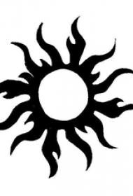 太阳纹身手稿 热烈的黑色太阳纹身手稿