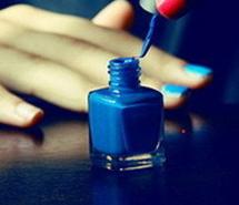 美甲你好,色彩唯美气质优雅蓝色潮流美甲唯美图片