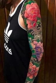 国花牡丹各部位纹身图案