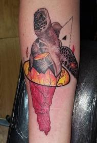 乌龟纹身图案   寿高年长的乌龟纹身图案