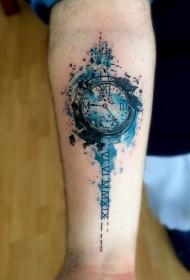 时钟纹身   时尚而又别致的时钟纹身图案