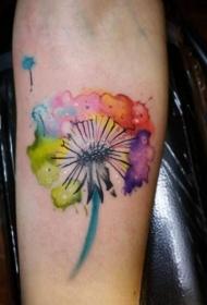 蒲公英纹身  清新而又美丽的蒲公英纹身图案