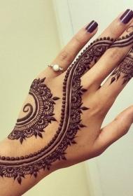 手背纹身  创意而又别样的手掌手指手背纹身图案