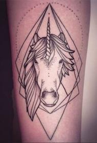 可爱独角兽纹身图案   童心又极具梦幻的独角兽纹身图案