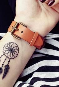 极简线条纹身 女生喜爱的黑色创意手腕纹身图案