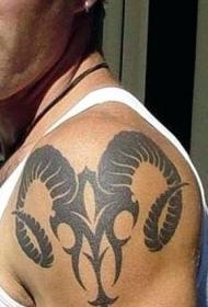 白羊座纹身图案    多款设计别样的白羊座纹身图案