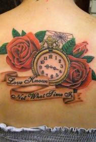 时钟纹身   多款技艺精湛的时钟纹身图案