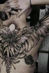 来自国外的一组漂亮翅膀纹身图案图片