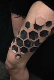 一组3d立体逼真的纹身作品欣赏