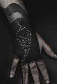 黑白纹身图案大全  多款黑白纹身骷髅图案和个性几何纹身图案