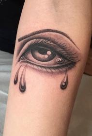 纹身眼睛纹身图案 手臂上纹身美女眼角眼泪纹身眼睛纹身图案