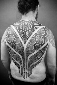 后背纹身男   设计感十足的后背纹身图案