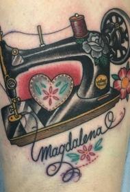 缝纫机纹身   多款缝纫机纹身彩绘和个性纹身小图案