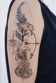纹身植物图案  生机盎然的植物纹身图案