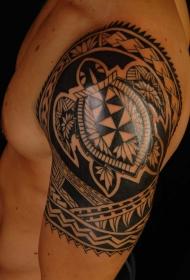个性几何纹身图案 创意龟纹身动物个性几何纹身图案