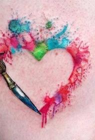 彩色渐变纹身 五彩斑斓的创意水彩纹身图案