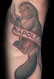 小动物纹身  贪吃好睡的小动物纹身图案