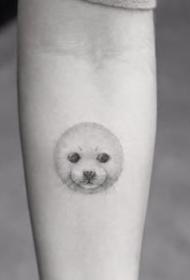 小清新纹身图案-黑灰素描点刺技巧描绘的创意文艺小清新小图案纹身图案