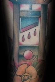 有趣的纹身  血腥淋漓的断头台纹身图案