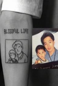 黑白纹身图案-将珍惜的照片作为纹身显得更有意义纹身图片