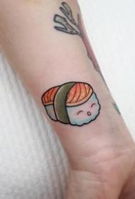 小清新纹身图案-彩绘最可爱小清新小寿司纹身图案