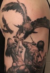 武士纹身 威武霸气的武士纹身图案