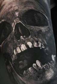 骷髅纹身图案-9张逼真的骷髅纹身图片