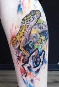 壁虎纹身图案-9张眼光敏捷的壁虎纹身图案
