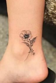 简约纹身图案-9张小清新的简约纹身图片