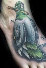 一组动物鸽子的纹身图案作品图片欣赏