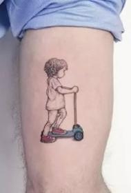 一组简约的小清新黑色小图案纹身图片