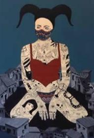丹麦艺术家RuneChristense)以纹身为主题的绘画创作