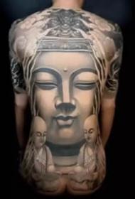 一组佛像相关的3d写实佛纹身图案作品