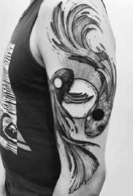 双鱼纹身--适合十二星座之双鱼座的双鱼纹身图案