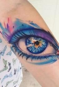 几张超逼真的3d写实大眼睛纹身图案作品欣赏