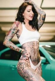 欧美tattoo girl的一组女性纹身图片欣赏