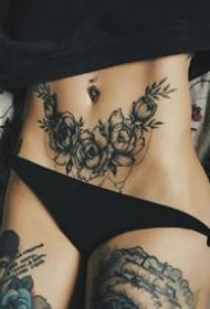 性感的一组女性腰部腿部纹身摄影作品组图欣赏
