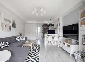 白色素雅的北欧风格装修效果图欣赏