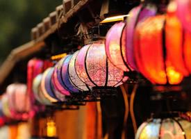 有着浓浓中国风的复古式灯笼壁纸