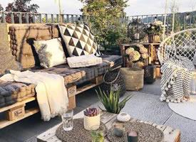 有着浪漫感的露天阳台效果图