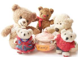 超级可爱乖巧的泰迪熊玩偶图片