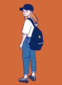 插画师sinana笔下的女生穿搭日记