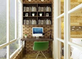 清晰阳光的阳台书房超赞设计
