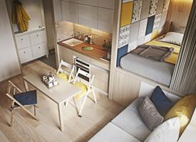 25㎡迷你单身公寓设计,麻雀虽小五脏俱全
